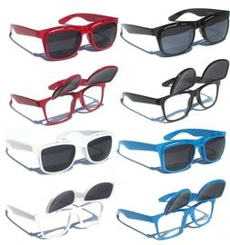 FLIP UP Sunglasses Tinted AND Clear lens Retro Design Vintag